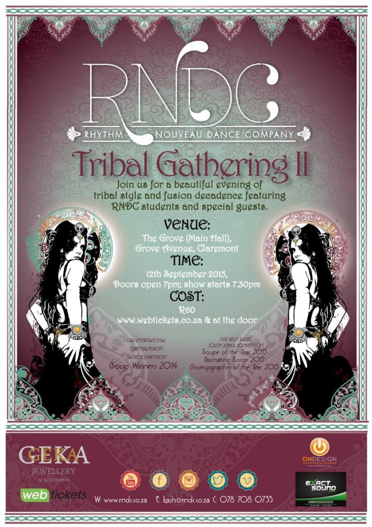 Tribal Gathering Poster 2015